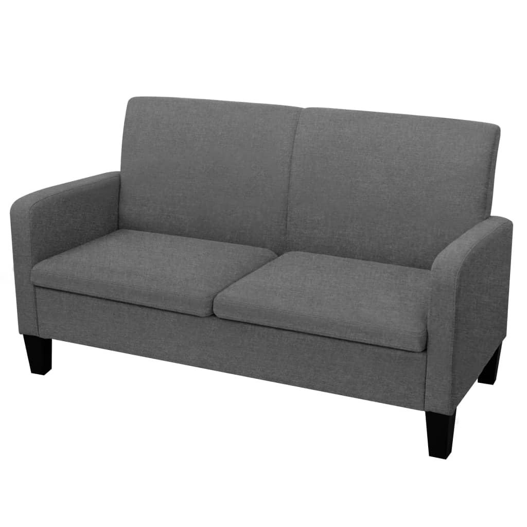 vidaXL sötétszürke 2 személyes kanapé 135 x 65 76 cm