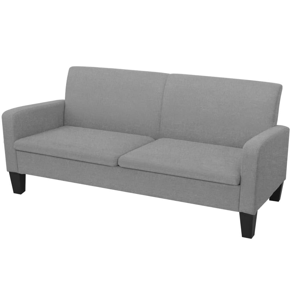 vidaXL 2 személyes világosszürke kanapé 180 x 65 76 cm