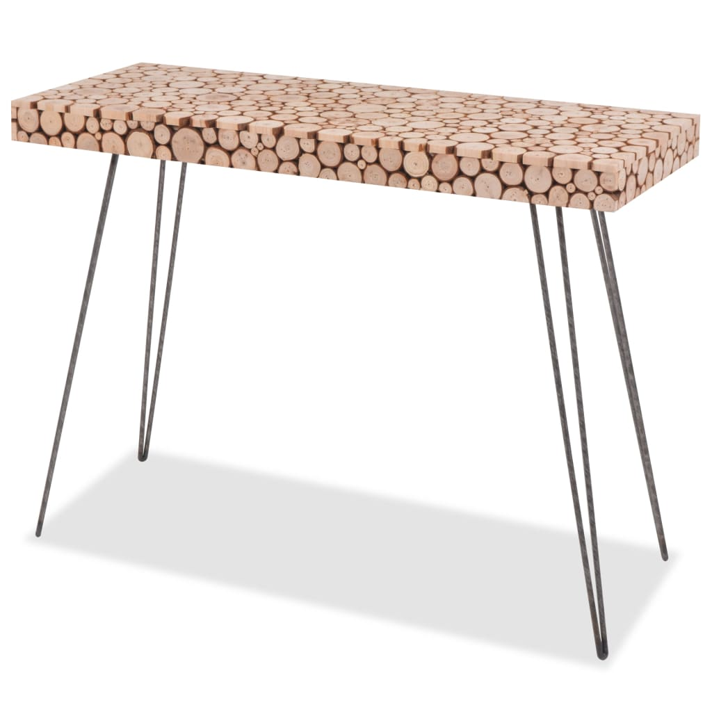 vidaXL valódi fa tálalóasztal 100,5 x 36,8 75 cm