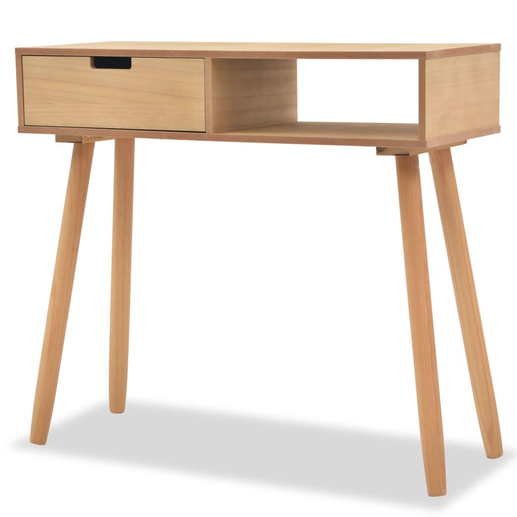 vidaXL barna, tömör fenyőfa tálalóasztal 80 x 30 72 cm