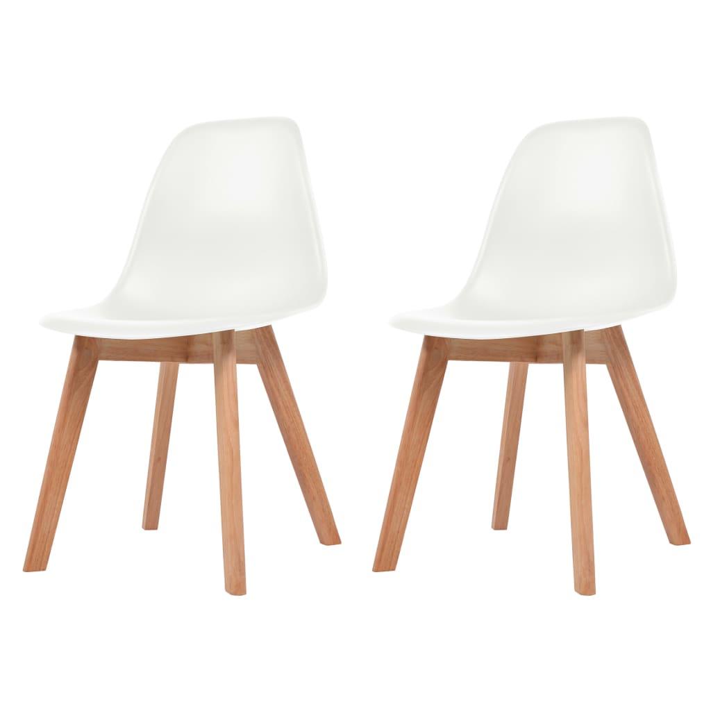 vidaXL Krzesła do jadalni, 2 sztuki, białe