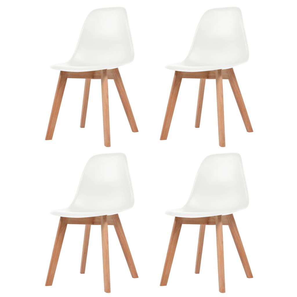 vidaXL Krzesła do jadalni, 4 sztuki, białe