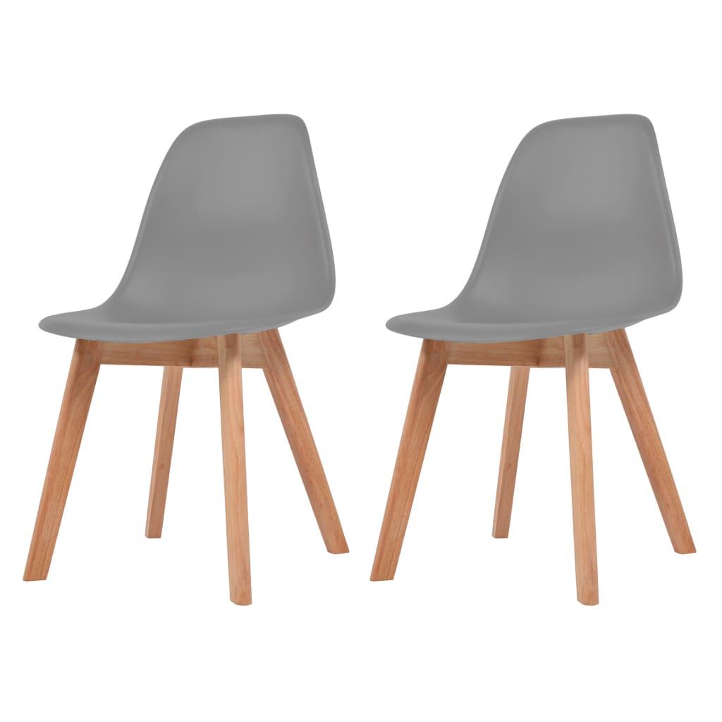 vidaXL Krzesła do jadalni, 2 sztuki, szare