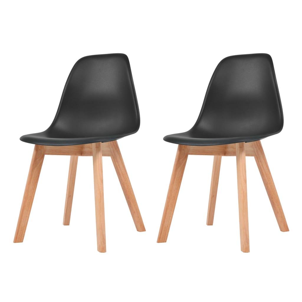 vidaXL Krzesła do jadalni, 2 sztuki, czarne