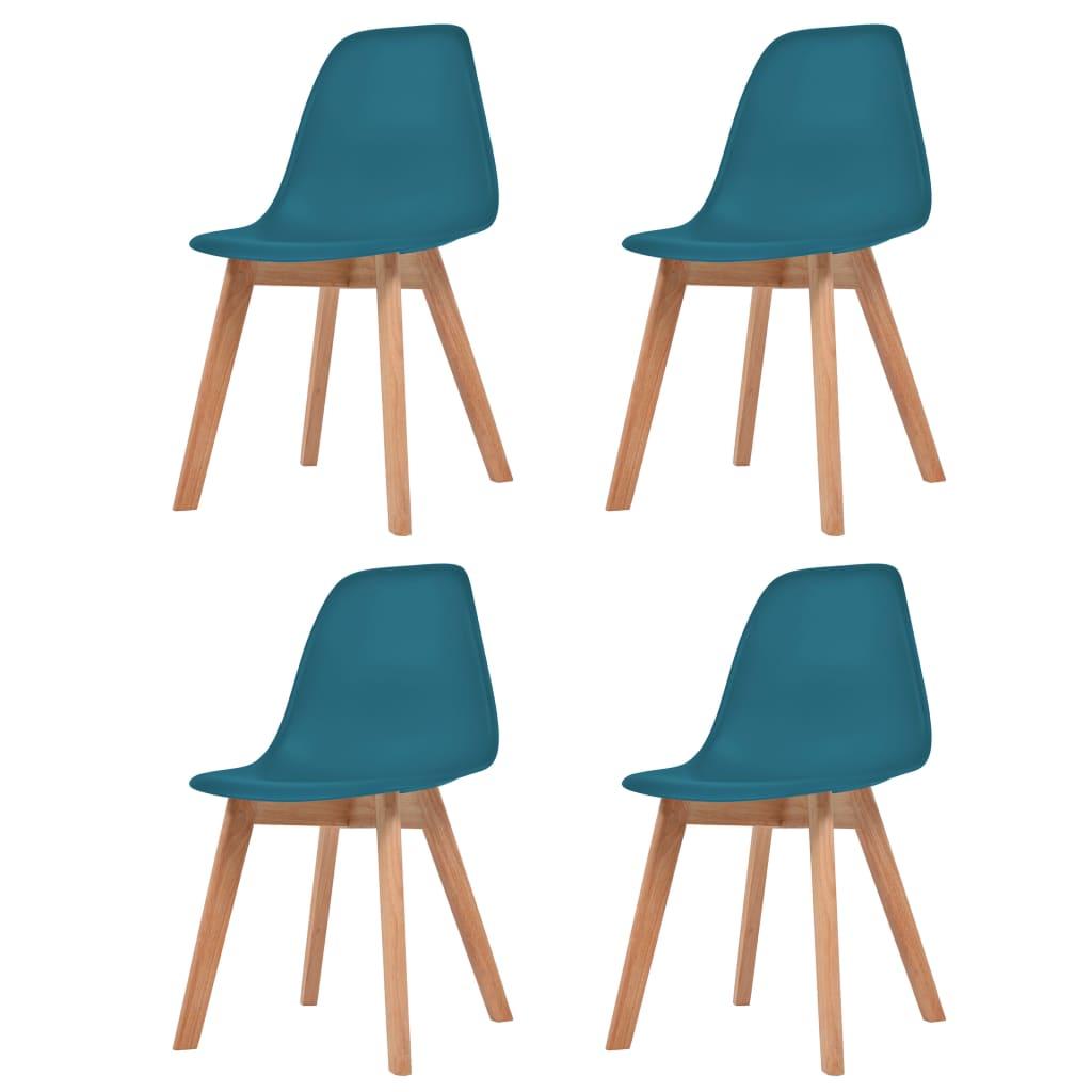 vidaXL Krzesła do jadalni, 4 sztuki, turkusowe