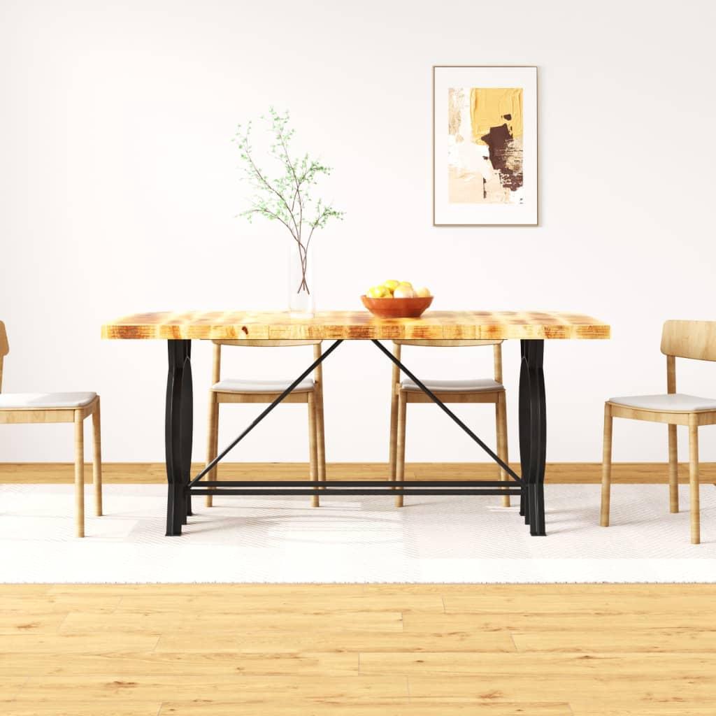 vidaXL étkezőasztal tömör nyers mangófa 180 cm