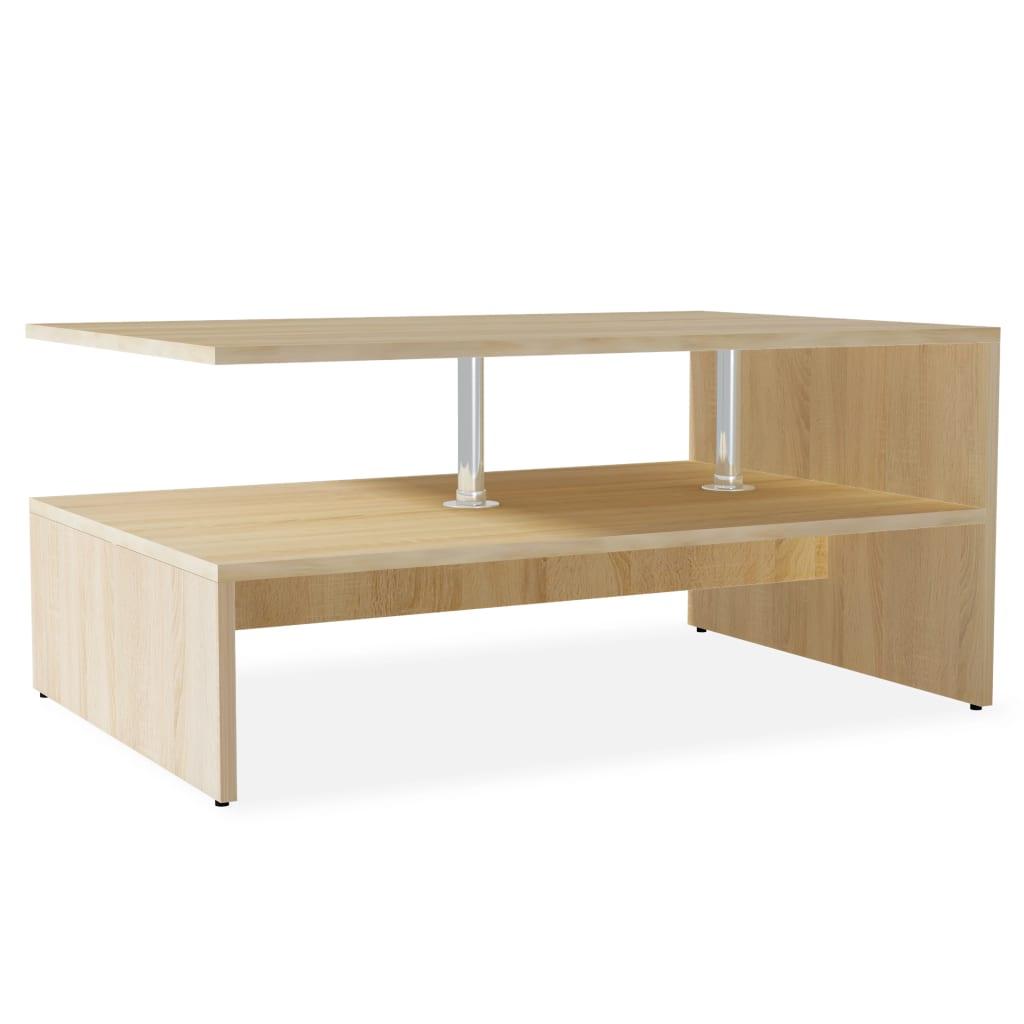 vidaXL tölgyfa színű faforgácslap dohányzóasztal 90 x 59 42 cm