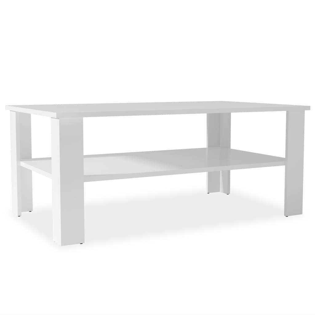 Afbeelding van vidaXL Salontafel 100x59x42 cm spaanplaat wit