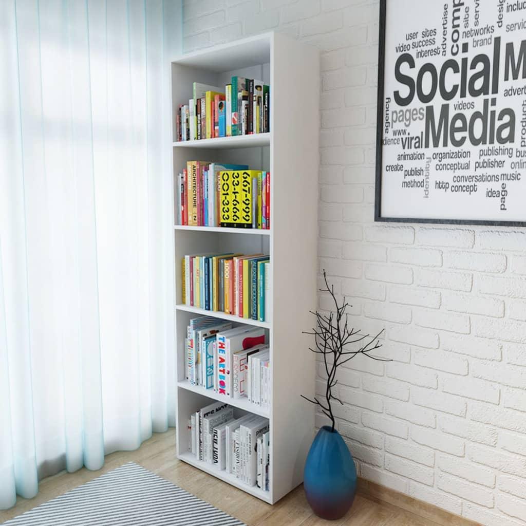 vidaXL fehér forgácslap könyvespolc 60 x 31 190 cm