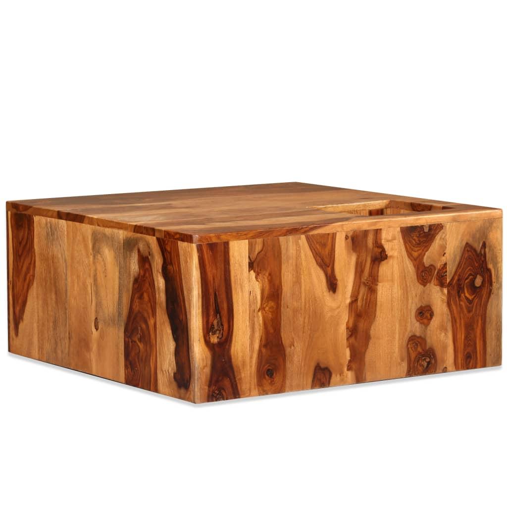 vidaXL Stolik kawowy z drewna sheesham, 70 x 70 x 30 cm