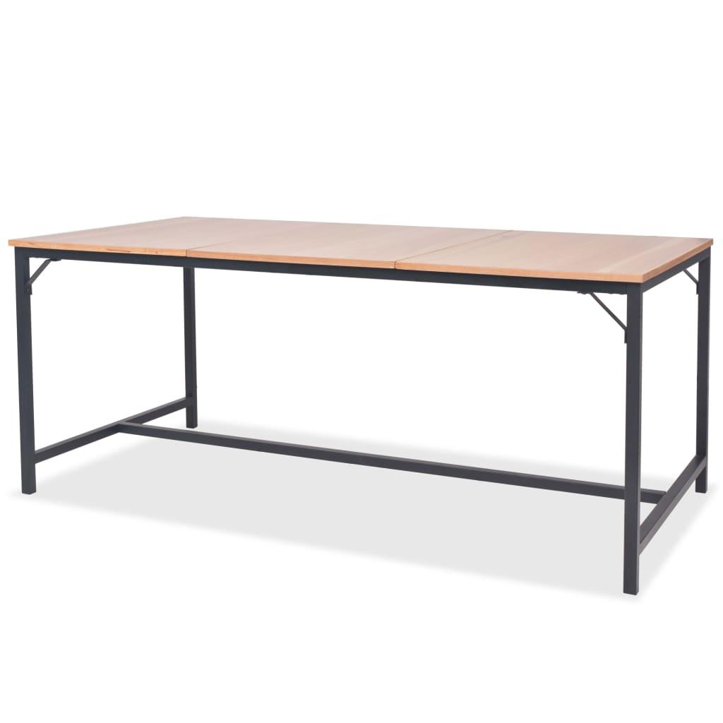 vidaXL kőrisfa étkezőasztal 180 x 90 76 cm