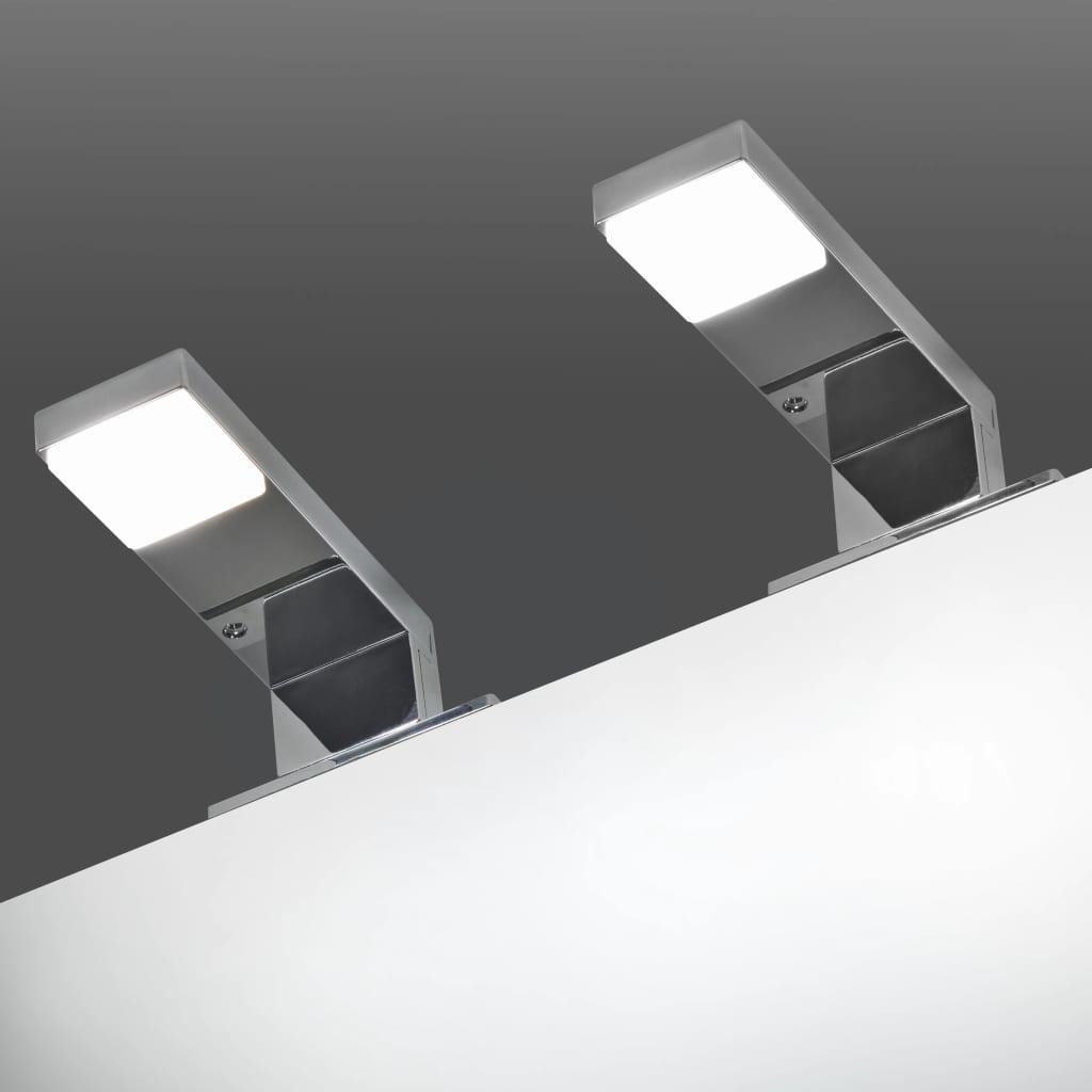 vidaXL 2 db tükörmegvilágító W hideg fehér