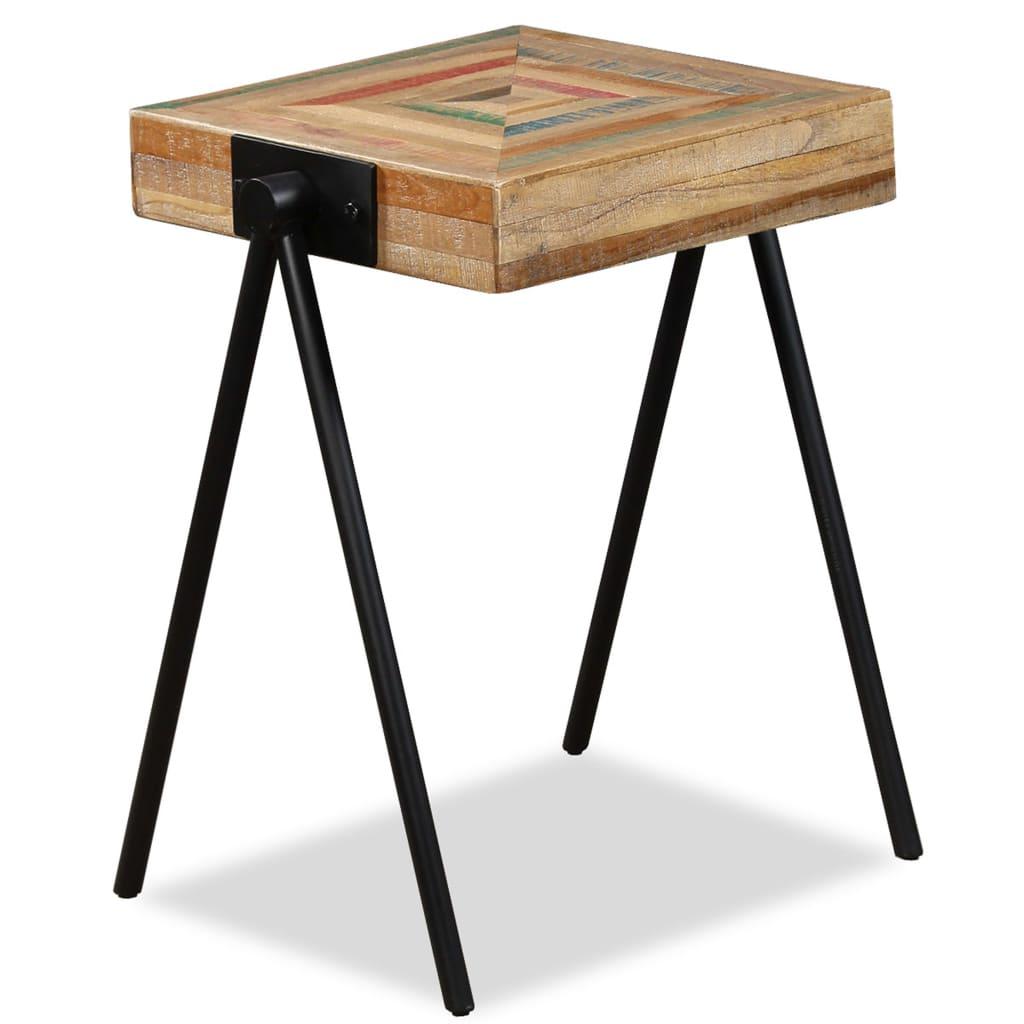 vidaXL újrahasznosított tömör tíkfa kisasztal