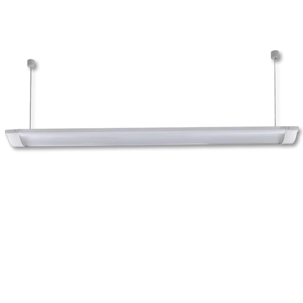 2-Lamp 36W T8 Fluorescent Light Fixture With Milk Top