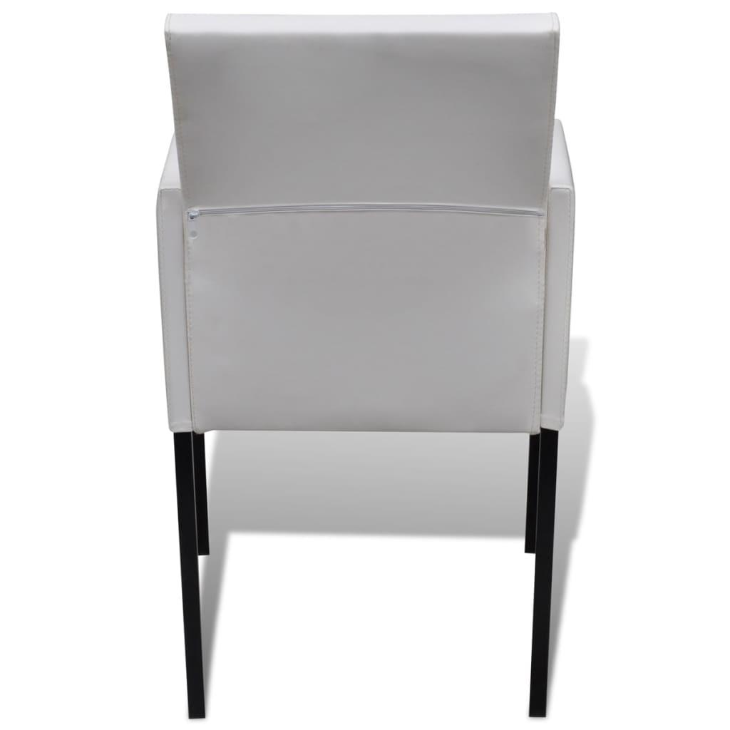 Sill n de comedor de dise o moderno blanco 4 unidades for Comedor blanco moderno