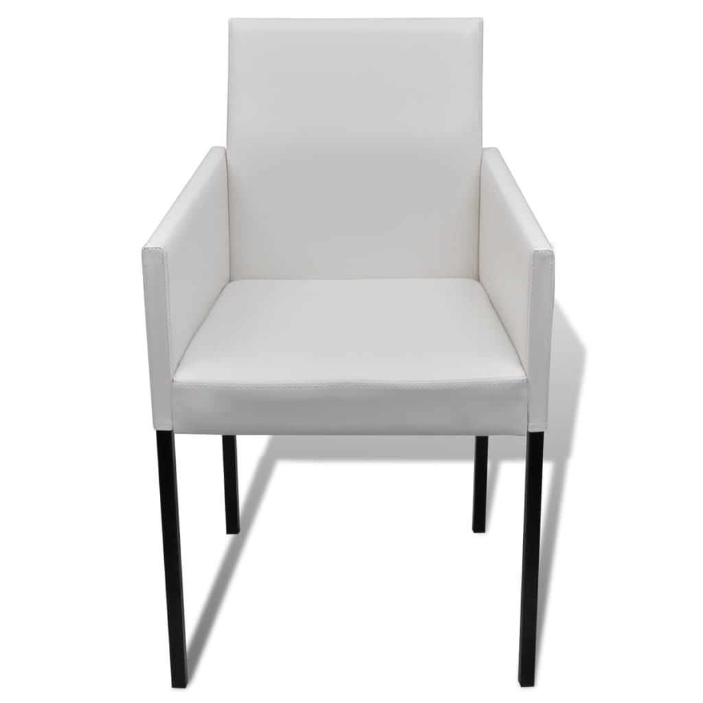 4x sedia poltroncina da pranzo design moderno in bianco - Sedia da pranzo ...