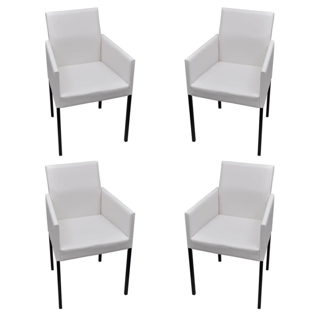 La boutique en ligne lot de 4 chaises de salle manger Chaises blanches modernes
