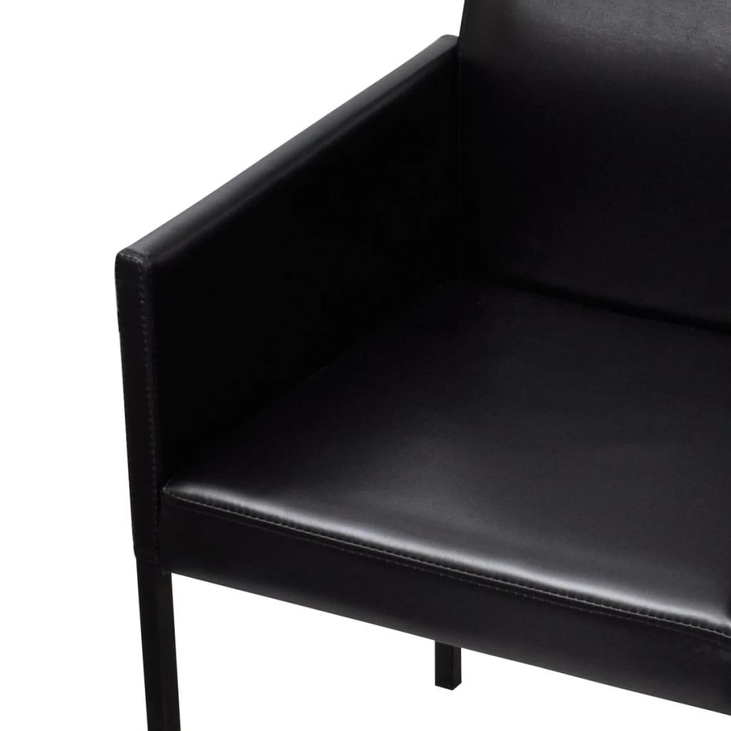 armsessel stuhl lehnstuhl polsterstuhl 4 st ck schwarz. Black Bedroom Furniture Sets. Home Design Ideas