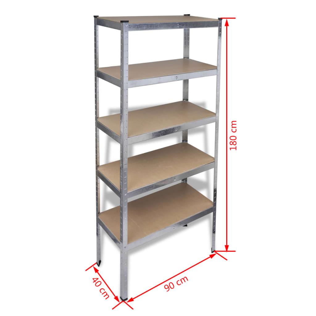 5x steckregal lagerregal schwerlastregal werkstattregal zum schn ppchenpreis. Black Bedroom Furniture Sets. Home Design Ideas
