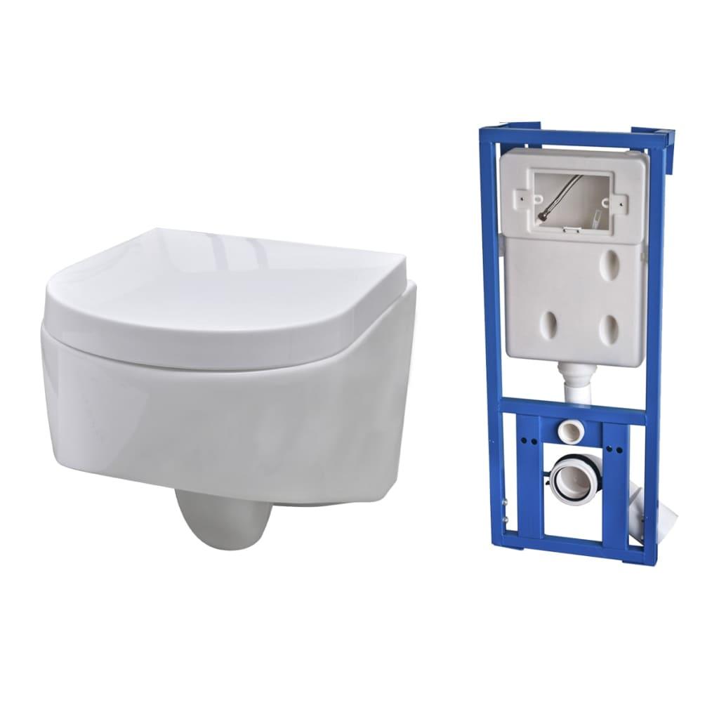 wand h nge wc toilette design wei sp lkasten zum schn ppchenpreis. Black Bedroom Furniture Sets. Home Design Ideas