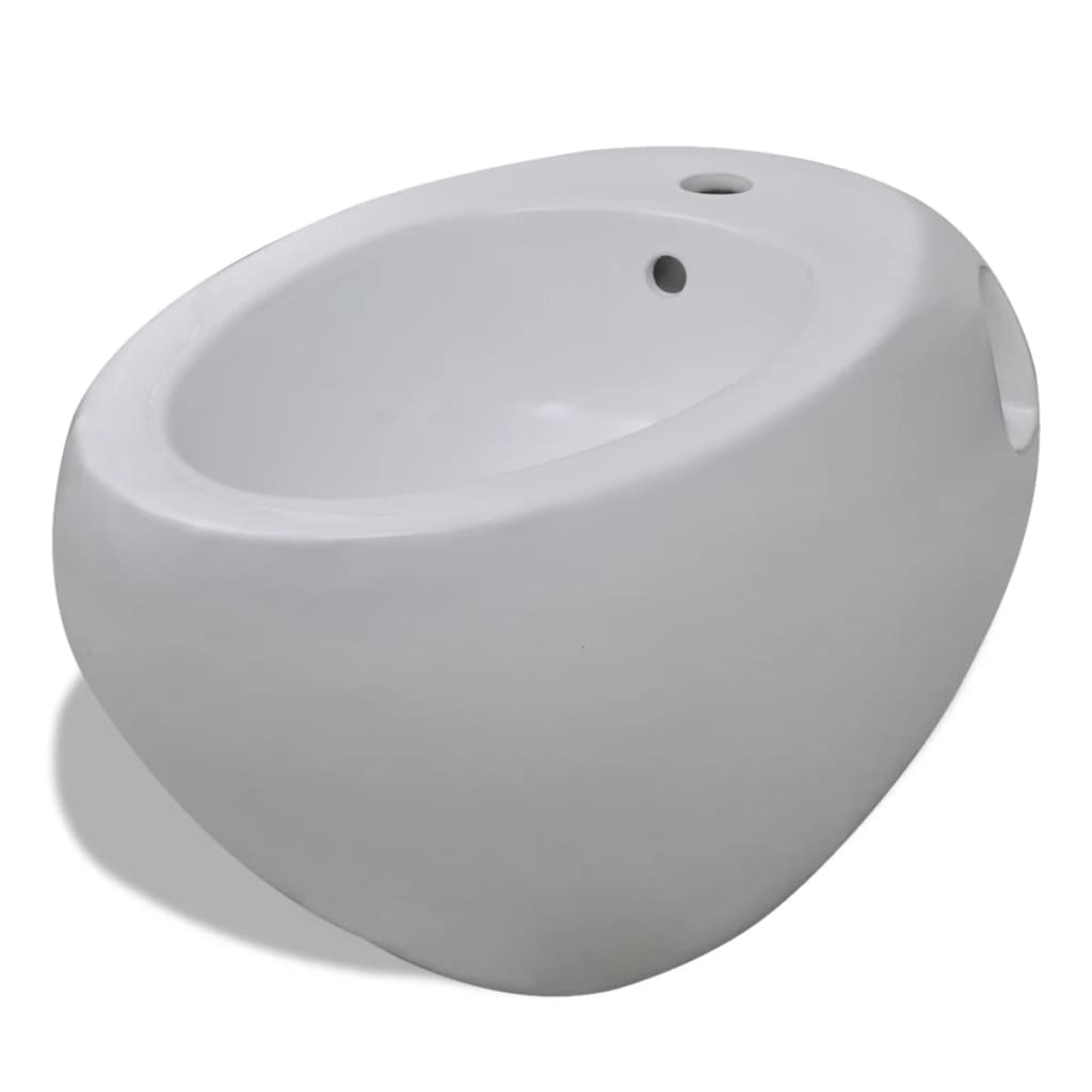 Wall Hung Toilet Bidet Set White Ceramic