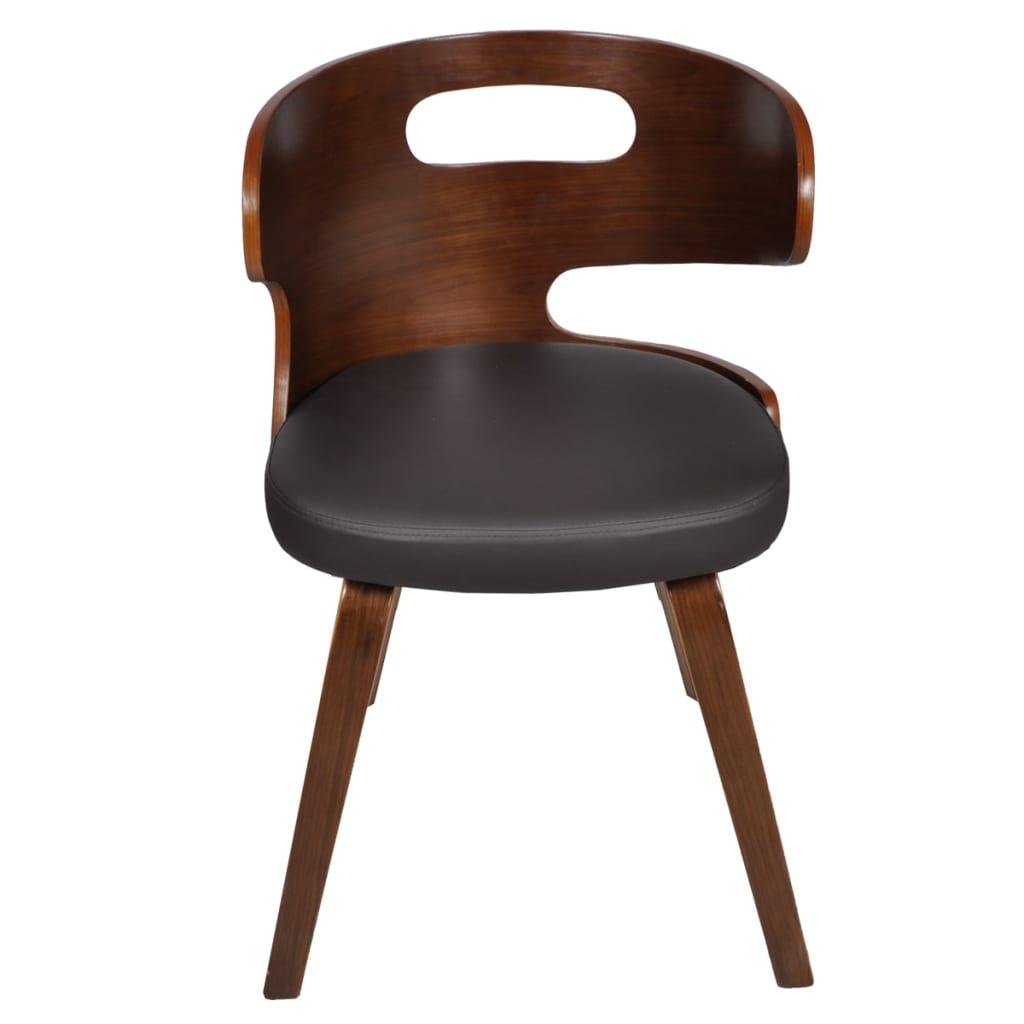 6xledermixst hle sessel esszimmerst hle sperrholz stuhl st hle braun g nstig kaufen. Black Bedroom Furniture Sets. Home Design Ideas