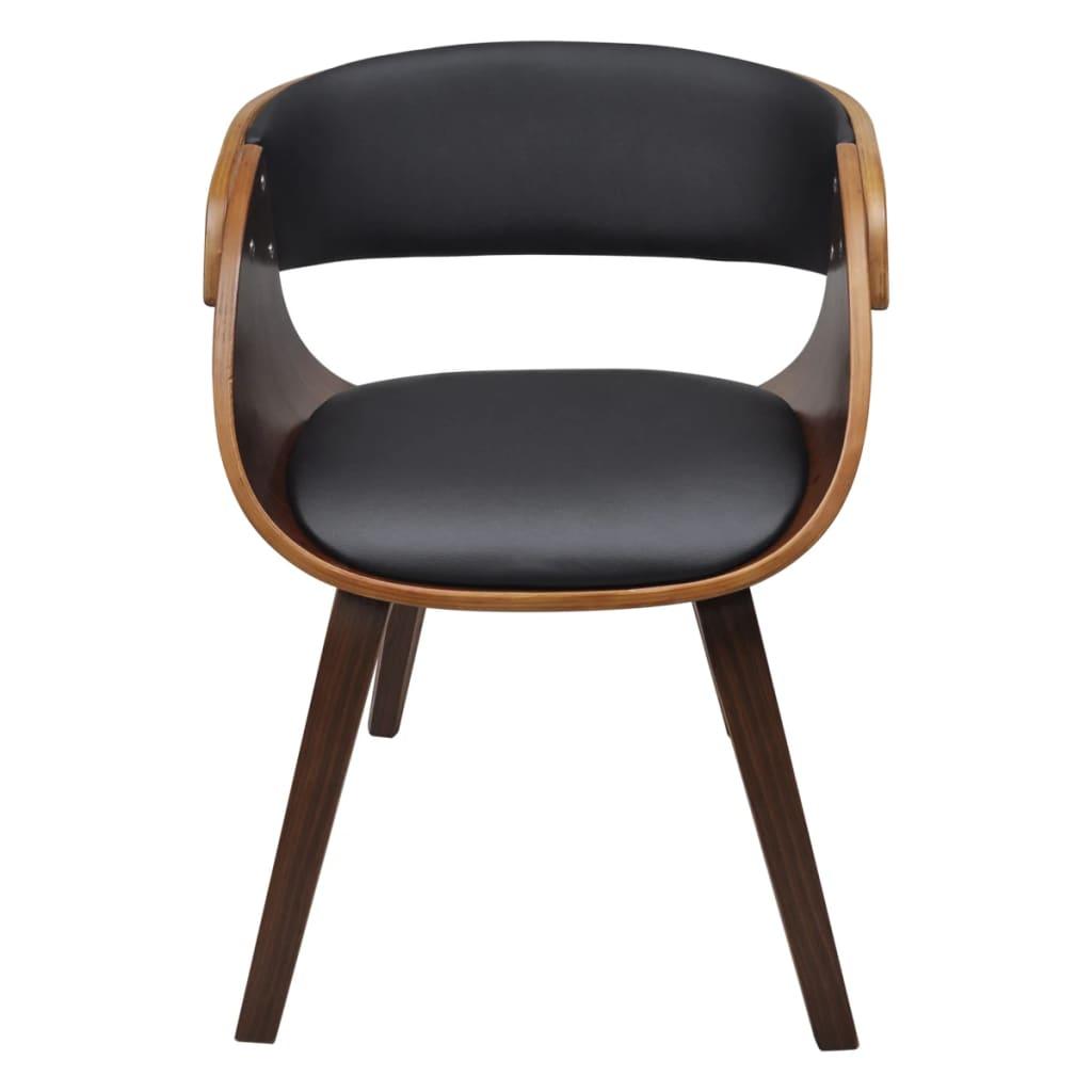Vidaxl 2x sedie da pranzo in legno marroni braccioli for Sedie x salotto