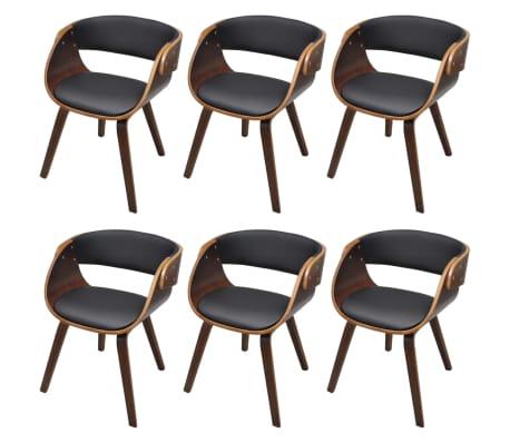 6 x esszimmer stuhl st hle sessel esszimmerst hle holzrahmen braun im vidaxl trendshop. Black Bedroom Furniture Sets. Home Design Ideas