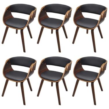 6 x esszimmer stuhl st hle sessel esszimmerst hle holzrahmen braun g nstig kaufen. Black Bedroom Furniture Sets. Home Design Ideas