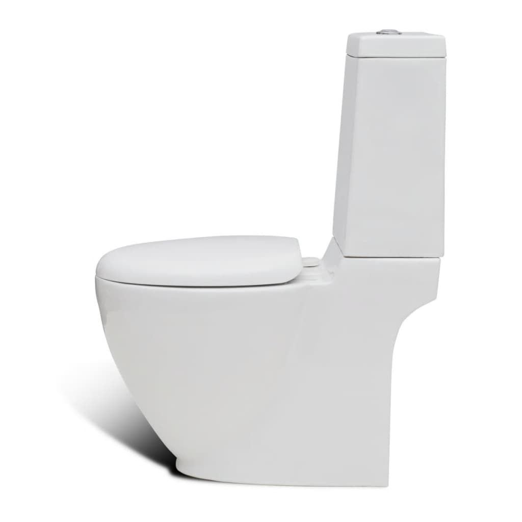 Staand toilet en bidet set wit online kopen for Wc bidet leroy merlin