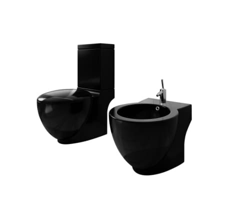 der stand toilette wc wc sitz stand bidet bodenstehend schwarz online shop. Black Bedroom Furniture Sets. Home Design Ideas