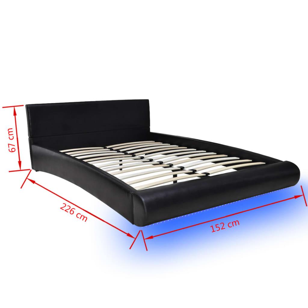 la boutique en ligne lit en cuir matelas inclus 140 x 200. Black Bedroom Furniture Sets. Home Design Ideas