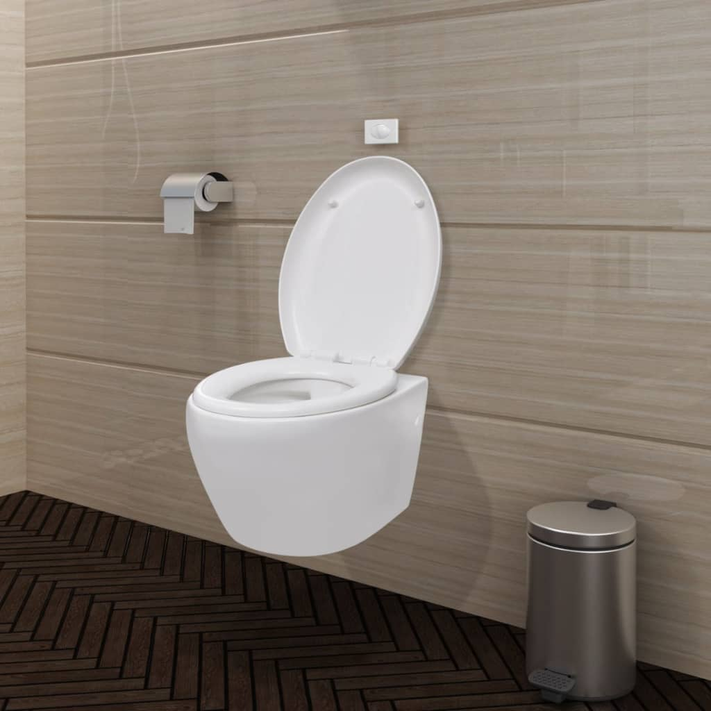 wand h nge wc toilette klo wandh ngend inkl softclose wc sitz oval ebay. Black Bedroom Furniture Sets. Home Design Ideas