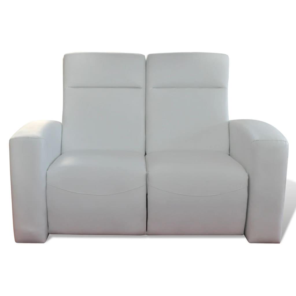 luxus ledermix heimkino sofa sessel 2 3 sitzer wei. Black Bedroom Furniture Sets. Home Design Ideas