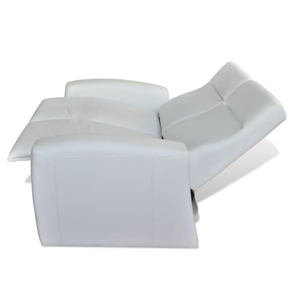 der luxus ledermix heimkino sofa sessel 2 3 sitzer wei online shop. Black Bedroom Furniture Sets. Home Design Ideas