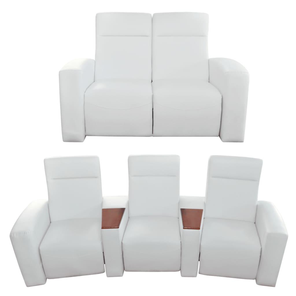 Luxury home cinema divano reclinabile 2 3 posti bianco for Divano reclinabile 2 posti