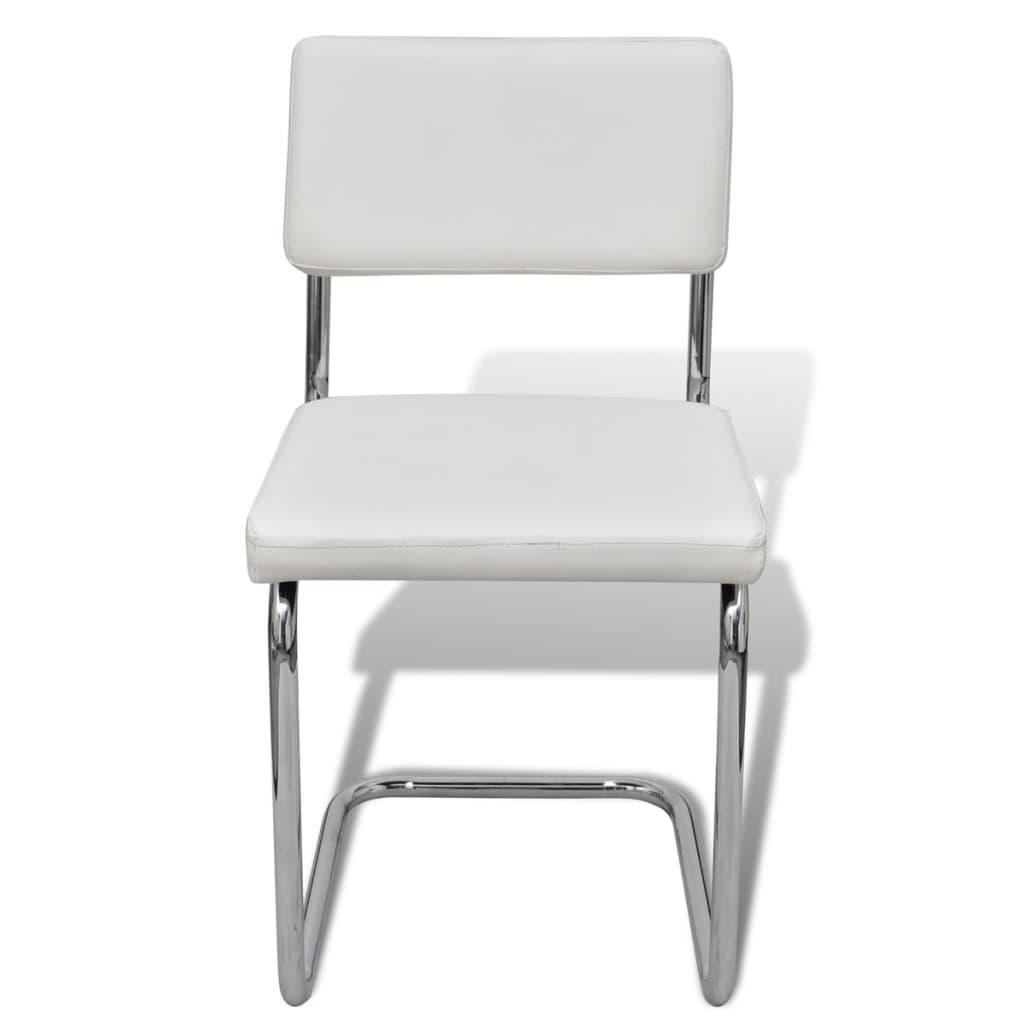 Acheter set de 6 chaises de salon design et moderne en for Chaise cuir salon