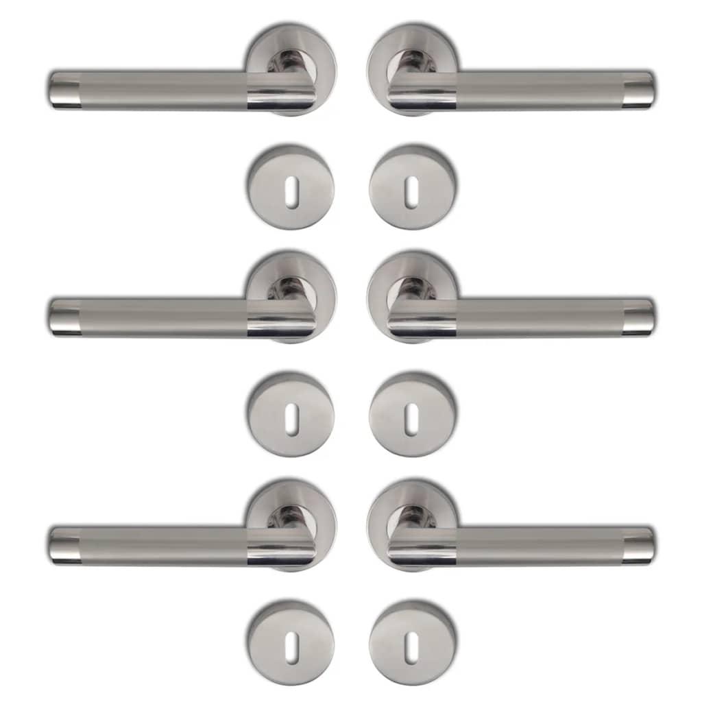 Dörrhandtag BB polerat rostfritt stål 3-pack