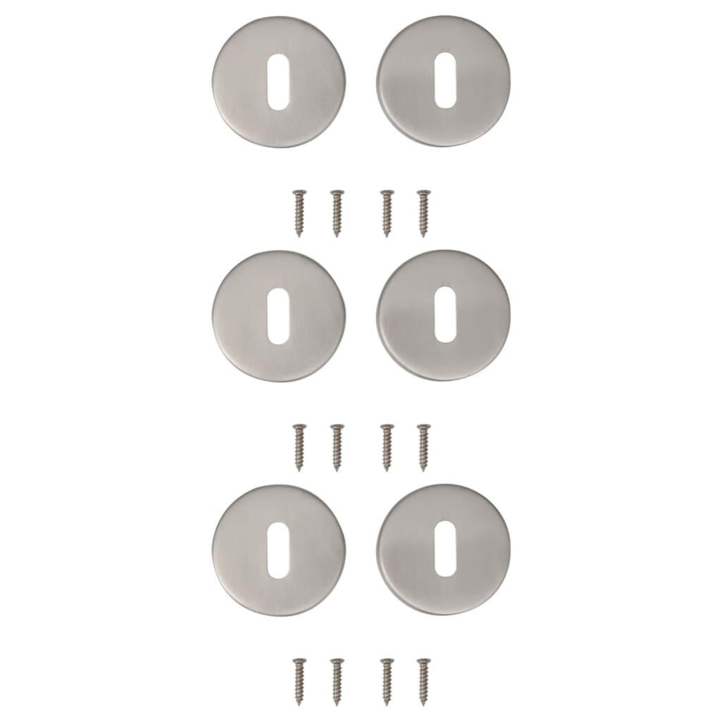 Afbeelding van vidaXL Deur sleutelrozet RVS (3 sets)