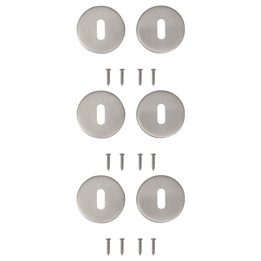 vidaXL 3 szett BB modell rozsdamentes acél ajtó rozetta