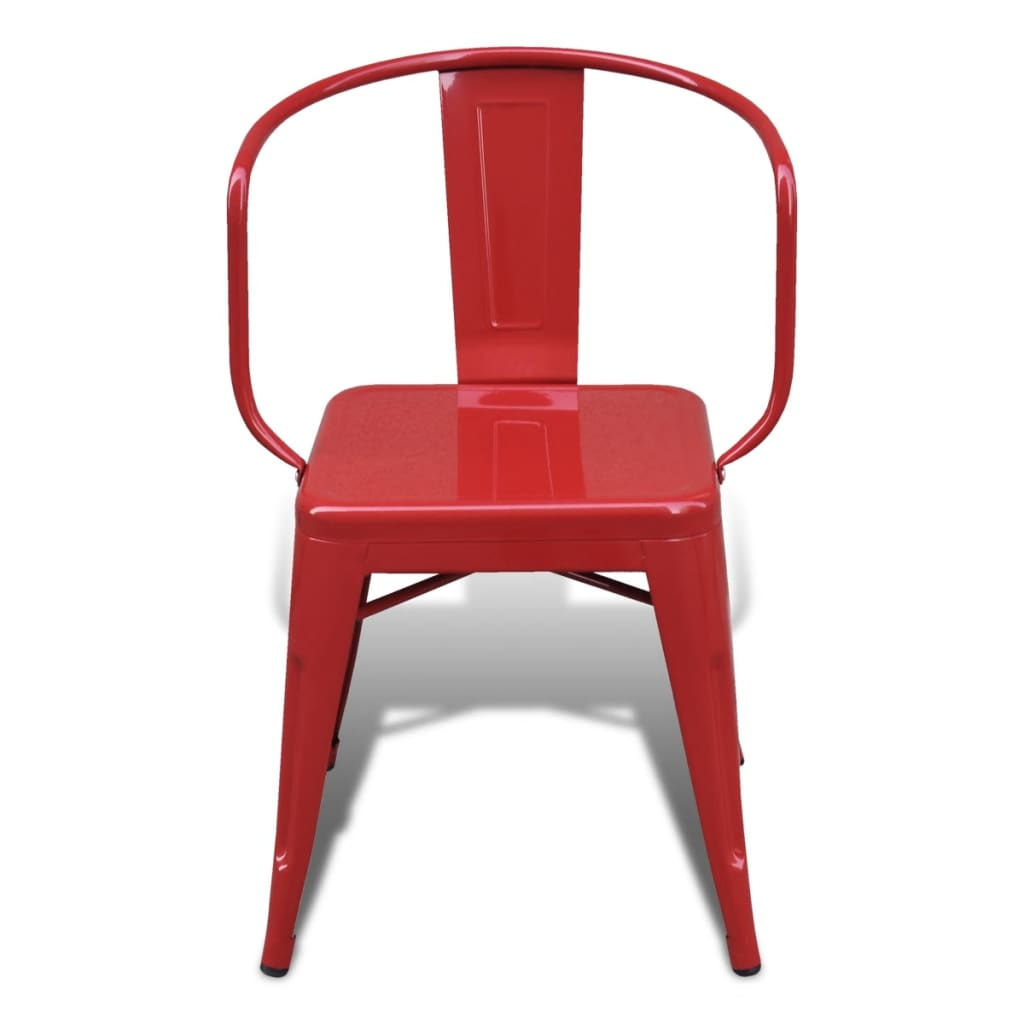 Silla de comedor estilo industrial 6 unidades rojas for Estilos de sillas para comedor