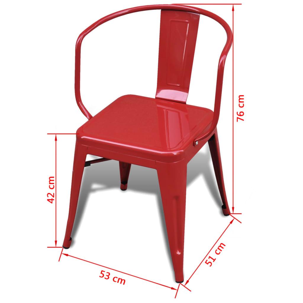Sedie da pranzo basse 6 pezzi schienale rosso for Sedie a buon prezzo