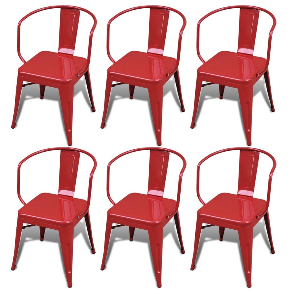 Articoli per sedie da pranzo basse 6 pezzi schienale rosso - Sedie da pranzo ...