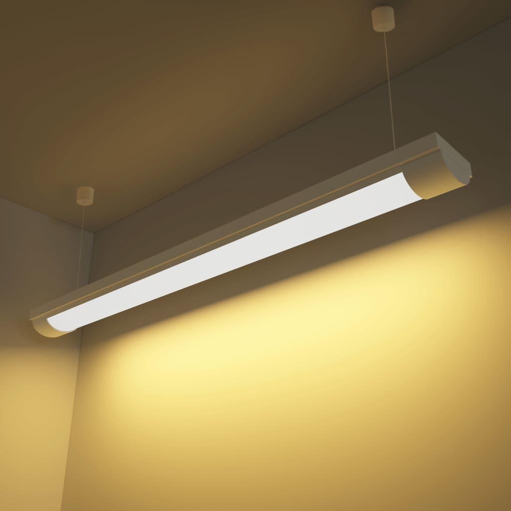 vidaXL 28 W LED mennyezeti lámpa meleg fehér fénnyel, tartozékokkal