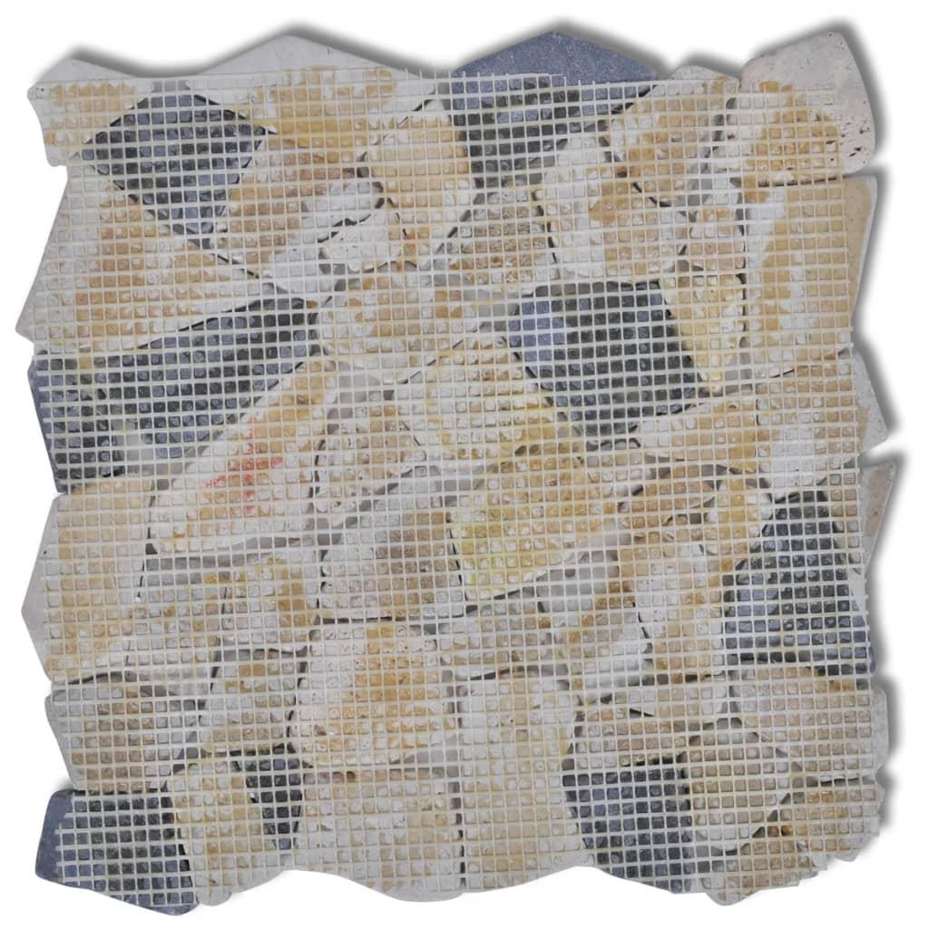 La boutique en ligne carreaux mosaique en pierre marbre noir et blanc 1 8 m2 - Marbre noir et blanc ...