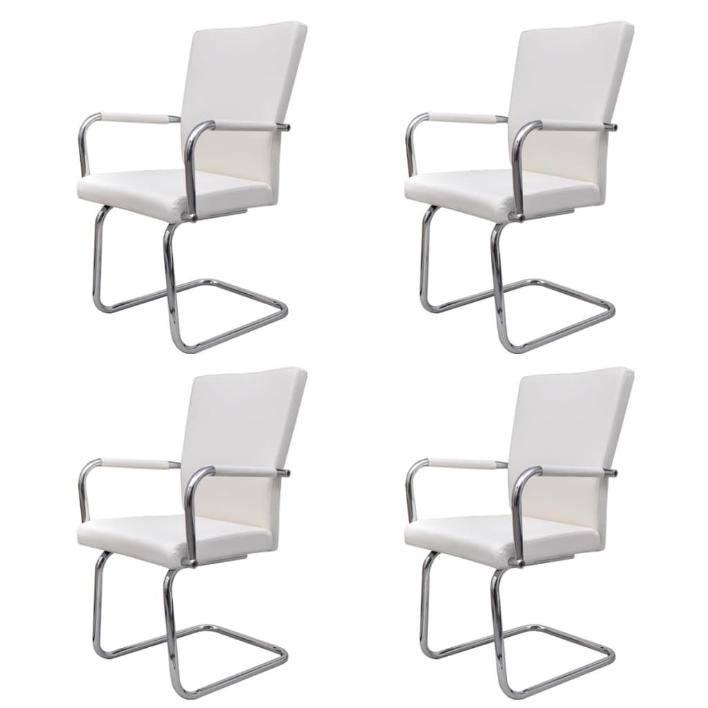 Vidaxl 4 pz sedie per sala da pranzo in pelle artificiale - Sedie per sala pranzo ...