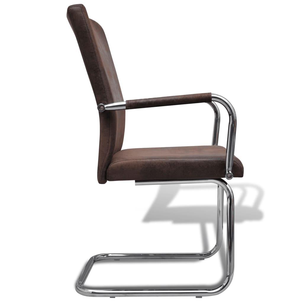 Acheter ensemble de 6 chaises de salle manger marron pas for Acheter chaise salle manger pas cher