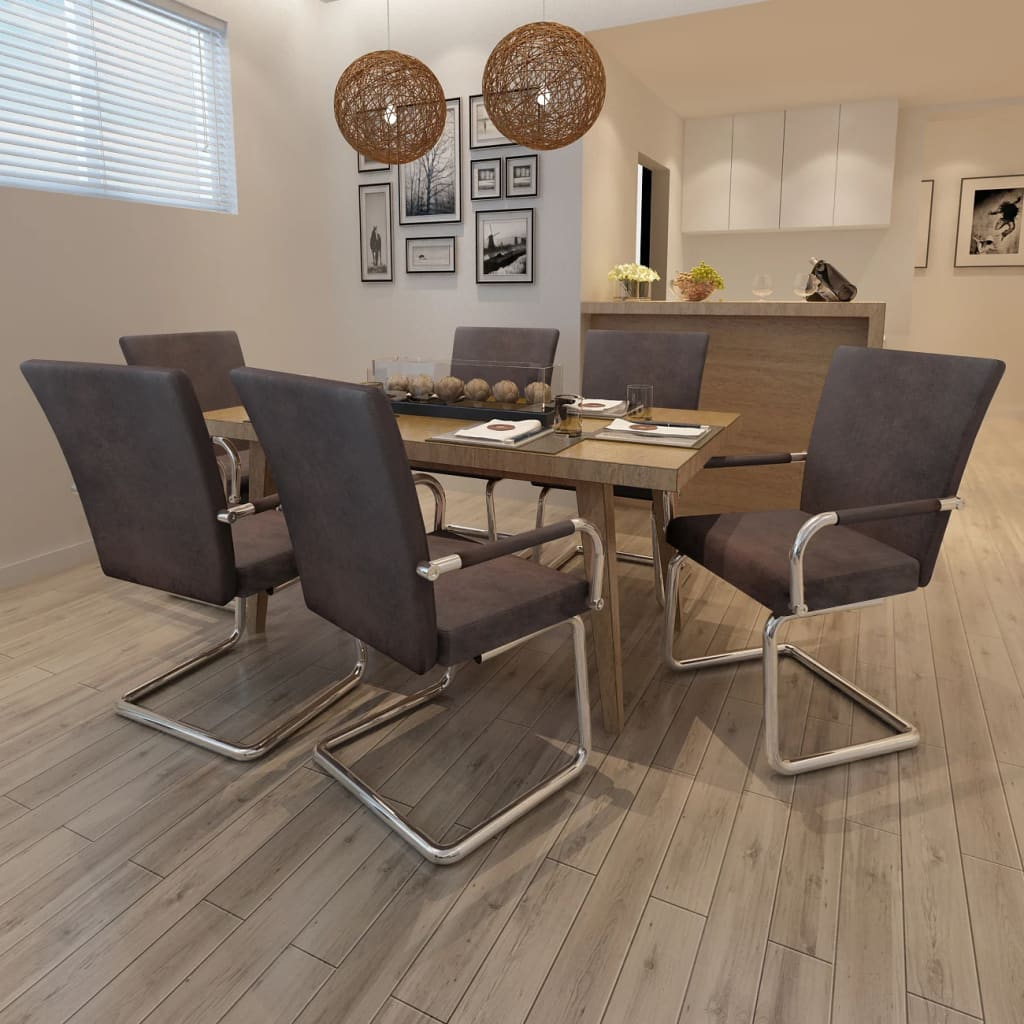 vidaXL 6 db barna modern dizájnú, műbőr étkezőszék