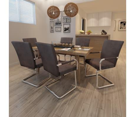 Eetkamerstoel modern bruin set van 6 eetkamerset eetkamer stoel eetkamer set ebay - Moderne eetkamer set ...