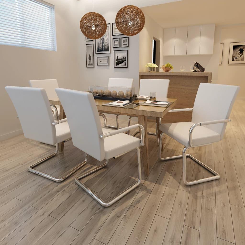La boutique en ligne ensemble de 6 chaises de salle for Ensemble salle a manger blanc